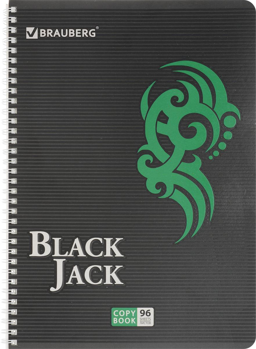 Brauberg Тетрадь BlackJack 96 листов в клетку цвет зеленый72523WDТетрадь Brauberg BlackJack на металлическом гребне пригодится как школьнику, так и студенту.Такое практичное и надежное крепление позволяет отрывать листы и полностью открывать тетрадь на столе. Обложка тетради Brauberg BlackJack серии Pro изготовлена из высококачественного импортного картона и дополнена спецэффектом в виде выборочного УФ-лака. Внутренний блок выполнен из высококачественного офсета в стандартную клетку без полей. Тетрадь содержит 96 листов. Страницы тетради дополнены микроперфорацией для удобного отрыва листов.