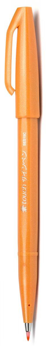Pentel Маркер Brush Sign Pen цвет оранжевый72523WDУникальный инструмент для рисования! Гибкий и прочный наконечник в виде кисти позволяет рисовать линии разной толщины. Длина письма - 600 м, в среднем - 750 м, т.к. ширина линии меняется в зависимости от угла наклона кисти. Кисть удобна для создания иллюстраций, быстрых рисунков, набросков.