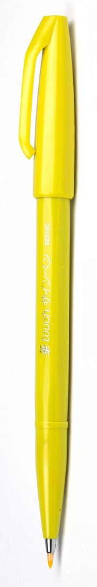 Pentel Маркер Brush Sign Pen цвет желтыйSES15C-GУникальный инструмент для рисования! Гибкий и прочный наконечник в виде кисти позволяет рисовать линии разной толщины. Длина письма - 600 м, в среднем - 750 м, т.к. ширина линии меняется в зависимости от угла наклона кисти. Кисть удобна для создания иллюстраций, быстрых рисунков, набросков.