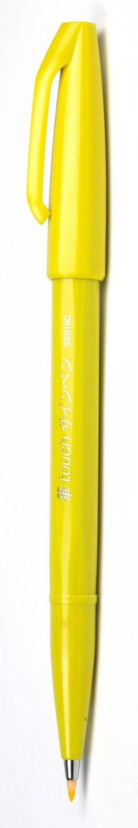 Pentel Маркер Brush Sign Pen цвет желтый