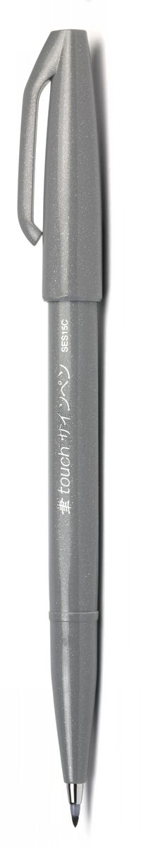 Pentel Маркер Brush Sign Pen цвет серый