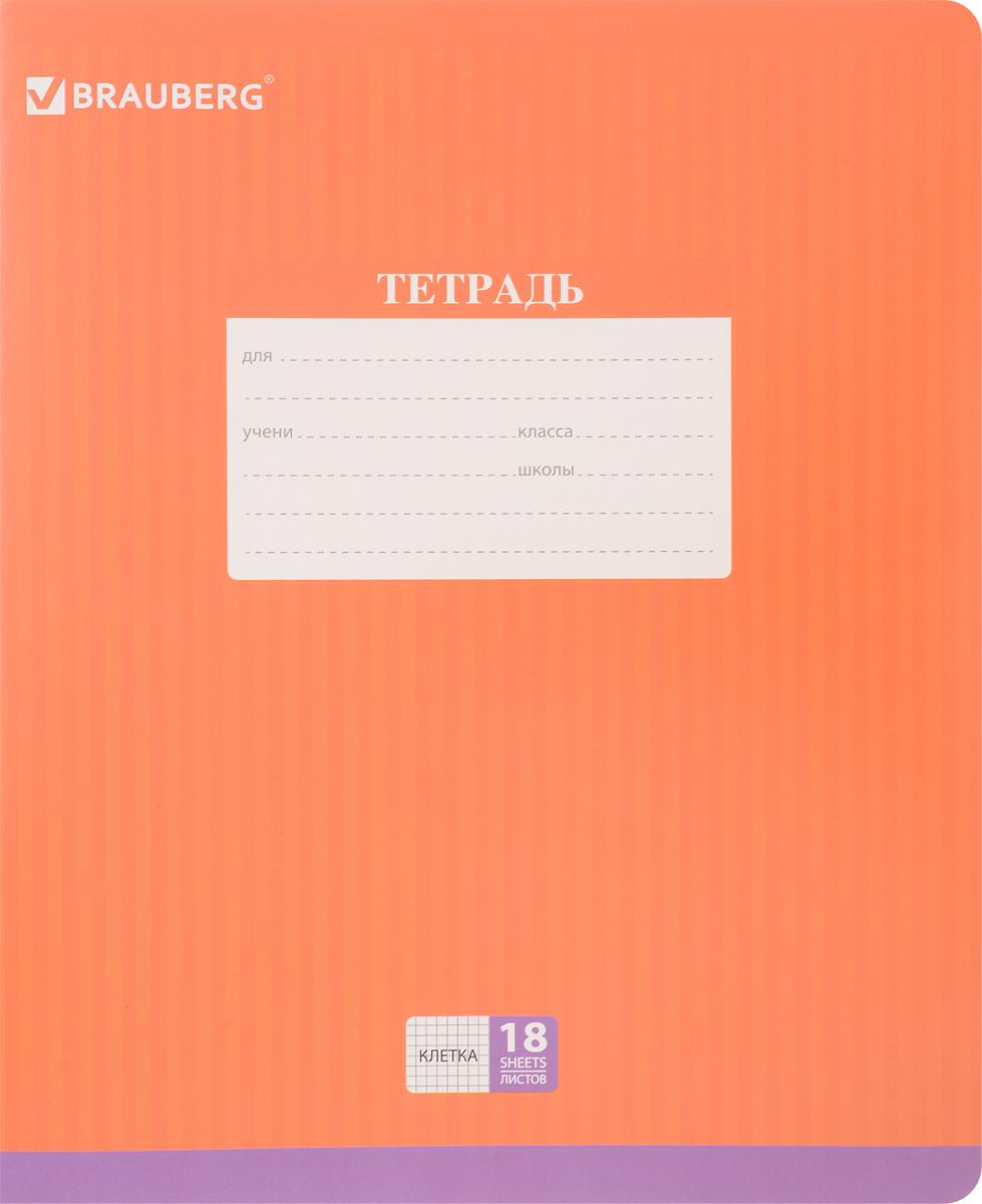 Brauberg Тетрадь Hide-and-Seek 18 листов в клетку цвет оранжевый72523WDОбложка тетради Brauberg Hide-and-Seek с закругленными углами выполнена из плотного картона, что позволит сохранить ее в аккуратном состоянии на протяжении всего времени использования. На задней обложке находятся меры длины, меры объема, меры массы, меры площади и таблица умножения.Внутренний блок тетради, соединенный двумя металлическими скрепками, состоит из 18 листов белой бумаги. Стандартная линовка в клетку голубого цвета дополнена полями.
