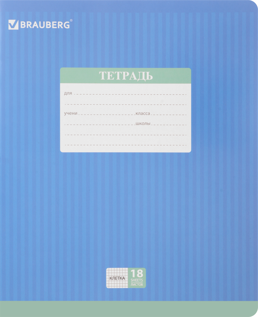 Brauberg Тетрадь Hide-and-Seek 18 листов в клетку цвет синий72523WDОбложка тетради Brauberg Hide-and-Seek с закругленными углами выполнена из плотного картона, что позволит сохранить ее в аккуратном состоянии на протяжении всего времени использования. На задней обложке находятся меры длины, меры объема, меры массы, меры площади и таблица умножения.Внутренний блок тетради, соединенный двумя металлическими скрепками, состоит из 18 листов белой бумаги. Стандартная линовка в клетку голубого цвета дополнена полями.