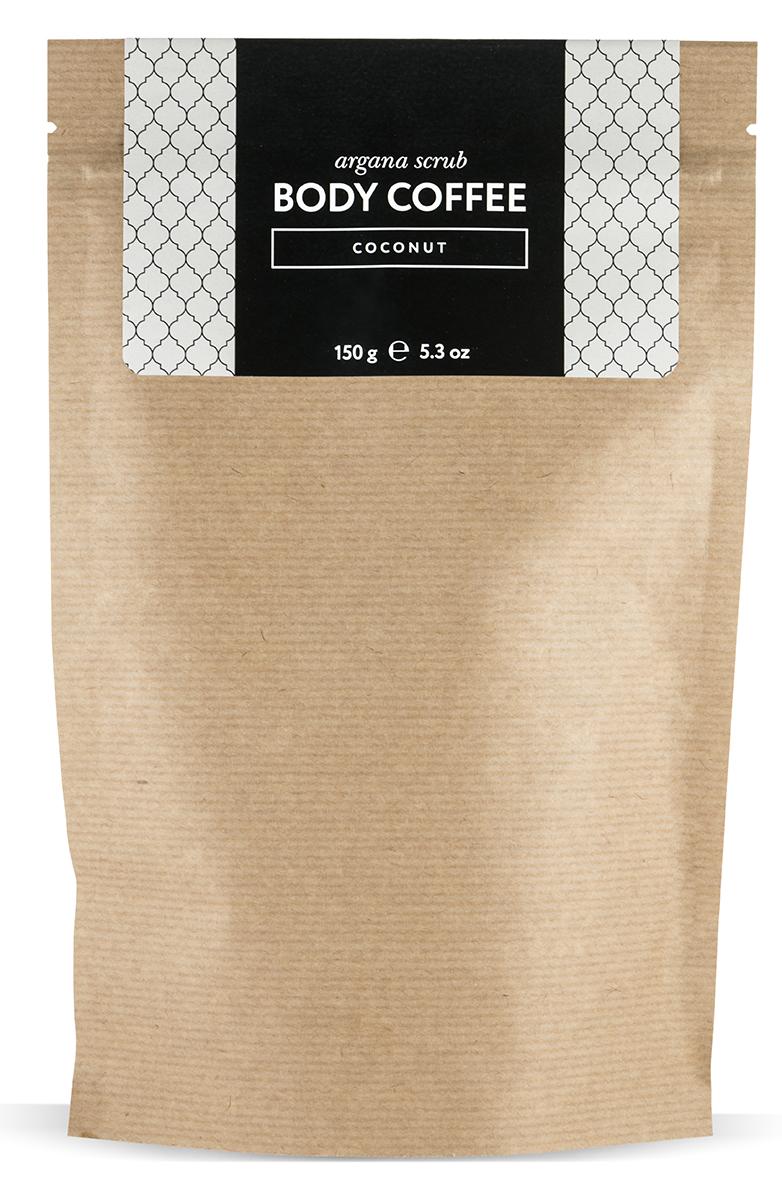 Huilargan Аргановый скраб кофейный, кокос 150 гFS-00897Body Coffee coconut - натуральный кофейный скраб на основе органического масла кокоса несет в себе все волшебные свойства оригинального скраба. Body Coffee coconut пробудит вашу кожу волшебным ароматом свежезаваренного кофе, наполнит бодростью, подарит тонус и заряд энергии на весь день, оставив на теле невероятный запах кокоса. Наш скраб состоит исключительно из органических компонентов, все ингредиенты натуральные и получены природным путем, поэтому наш продукт так эффективен. Его основным ингредиентом является колумбийский кофе, который славится своим тонизирующим, лимфодренажным и общеукрепляющим свойством. Тростниковый нерафинированный сахар - питает, отшелушивает и обновляет кожу. Аргановое масло - регенерирует клетки кожи, стимулирует выработку коллагена и эластана. Кокосовое масло делает кожу бархатной, нежной и шелковистой. Витамины, входящие в состав скраба наполняют каждую клеточку кожи полезными веществами.