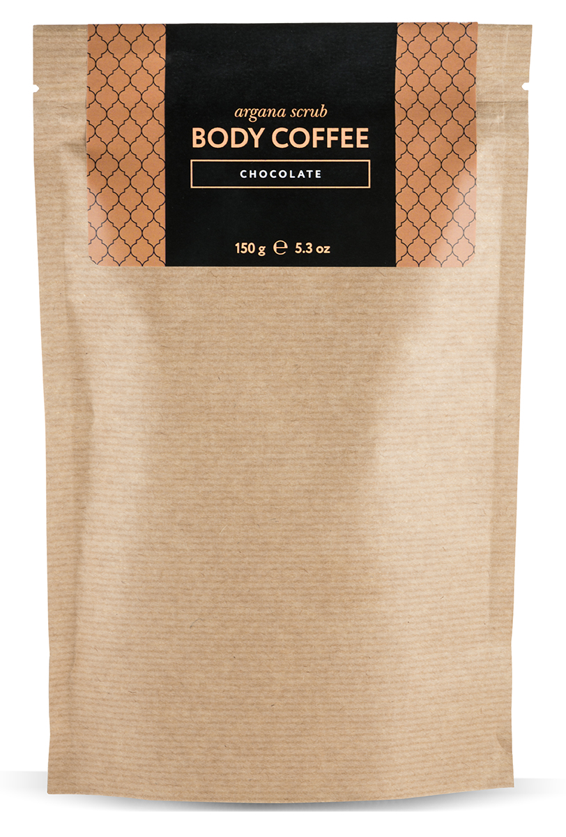Huilargan Аргановый скраб кофейный, шоколад 150 гFS-00897Body Coffee chocolate- натуральный кофейный скраб на основе органического масла какао несет в себе все волшебные свойства оригинального скраба, а его формула, усиленная маслом какао и настоящими тертыми колумбийскими какао-бобами стала более совершенной и оказывает еще большее воздействие на вашу кожу. Body Coffee chocolate пробудит вашу кожу волшебным ароматом свежезаваренного кофе, наполнит бодростью, подарит тонус и заряд энергии на весь день. Его основным ингредиентом является колумбийский кофе, который славится своим тонизирующим, лимфодренажным и общеукрепляющим свойством. Тростниковый нерафинированный сахар - питает, отшелушивает и обновляет кожу. Аргановое масло - регенерирует клетки кожи, стимулирует выработку коллагена и эластана. Масло какао стимулирует регенерацию клеток и выработку эластана и коллагена, укрепляет кожу, повышает иммунитет. Какао-бобы разглаживают кожу, укрепляют и питают ее, устраняя эффект апельсиновой корки.