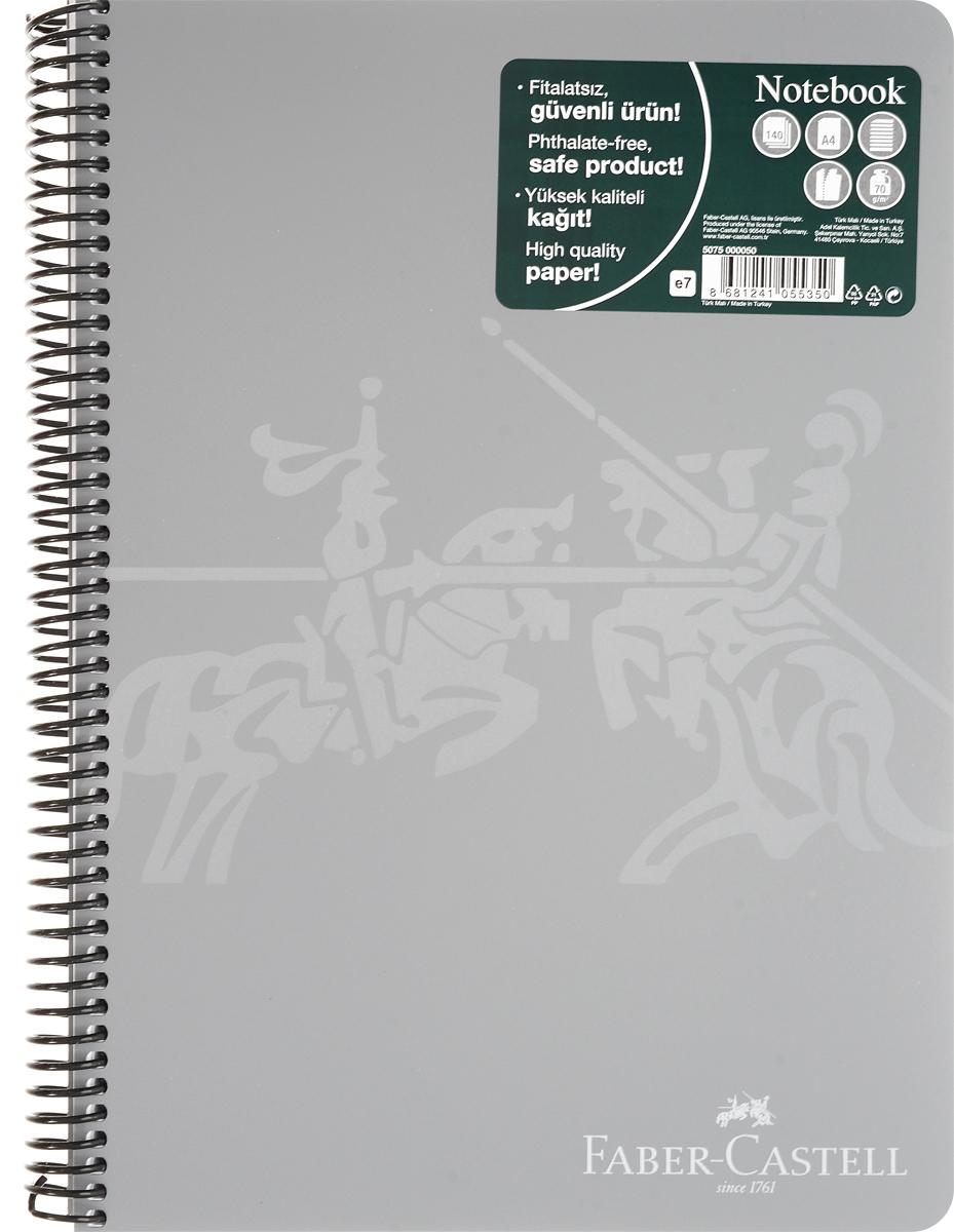 Faber-Castell Блокнот Knight 140 листов в линейку цвет серый3760Б-НтБлокнот Faber-Castell Knight в твердой пластиковой обложке подойдет для памятных записей, любимых стихов и многого другого.Внутренний блок блокнота состоит из 140 листов в линейку, способ крепления листов - пластиковая спираль. Страницы блокнота дополнены микроперфорацией для удобного отрыва листов.Такой блокнот станет не только достойным аксессуаром среди ваших канцелярских принадлежностей, но и практичным подарком для близких и друзей.