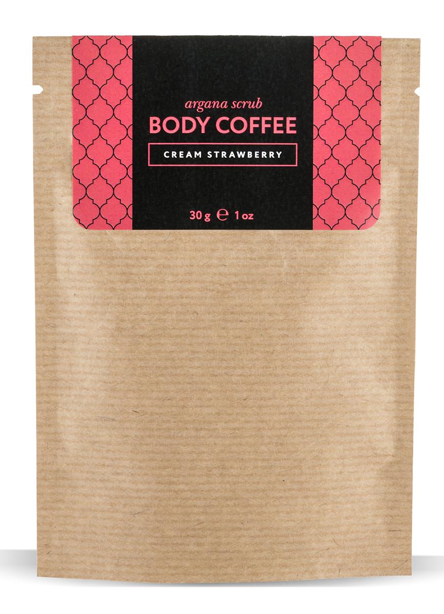 Huilargan Аргановый скраб кофейный, клубника со сливками, 30 г72523WDУникальный скраб в составе, которого находятся натуральные сливки, онипрекрасно увлажняют, питают, смягчают, насыщают витаминами кожу, кусочкинатуральной клубники, которая обладаетпрекрасным омолаживающим эффектом.