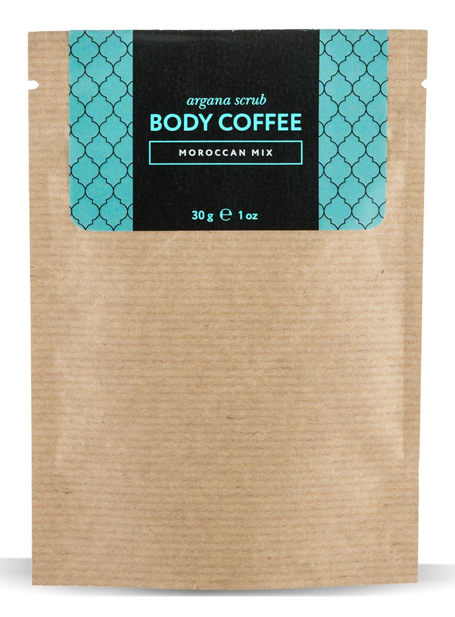 Huilargan Аргановый скраб кофейный, марокканский микс, 30 гFS-00897Сухой кофейный скраб с добавлениеммасла арганы и витаминов. В нем соединены все полезные свойства мароккан-ского чая и кофейного скраба – это нетолько волшебный аромат, но и невероятная польза для организма.