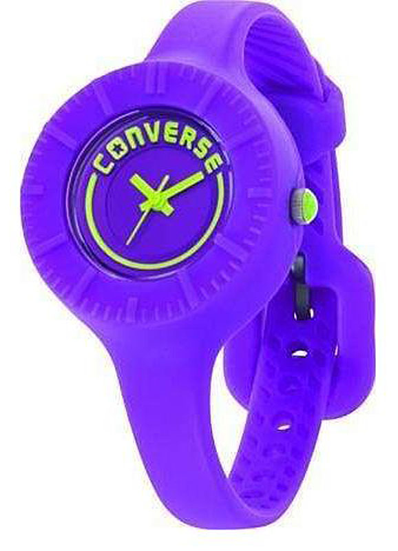 Часы наручные женские Converse The Skinny, цвет: фиолетовый. VR027-505BM8434-58AEЧасы Converse - яркие, динамичные, неформальные - в полной мере отражают дух бренда, который мы так хорошо знаем по легендарным кедам. Часы оснащены тонким гибким ремешком из силикона. Крупный круглый циферблат без часовых отметок оформлен названием бренда. Кварцевые часы выполнены с плоским стеклом, устойчивым к царапинам и бесшумным механизмом.