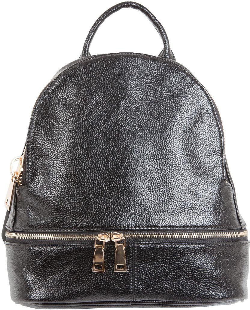 Рюкзак женский Flioraj, цвет: черный. 2136S76245Снаружи два кармана на молнии. Внутри одно отделение, один карман на молнии. Высота ручки - 7 см.