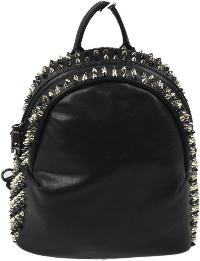 Рюкзак женский Flioraj, цвет: черный. 8925101225Закрывается на молнию. Внутри одно отделение, открытый карман, карман на молнии. Высота ручки 6 см.