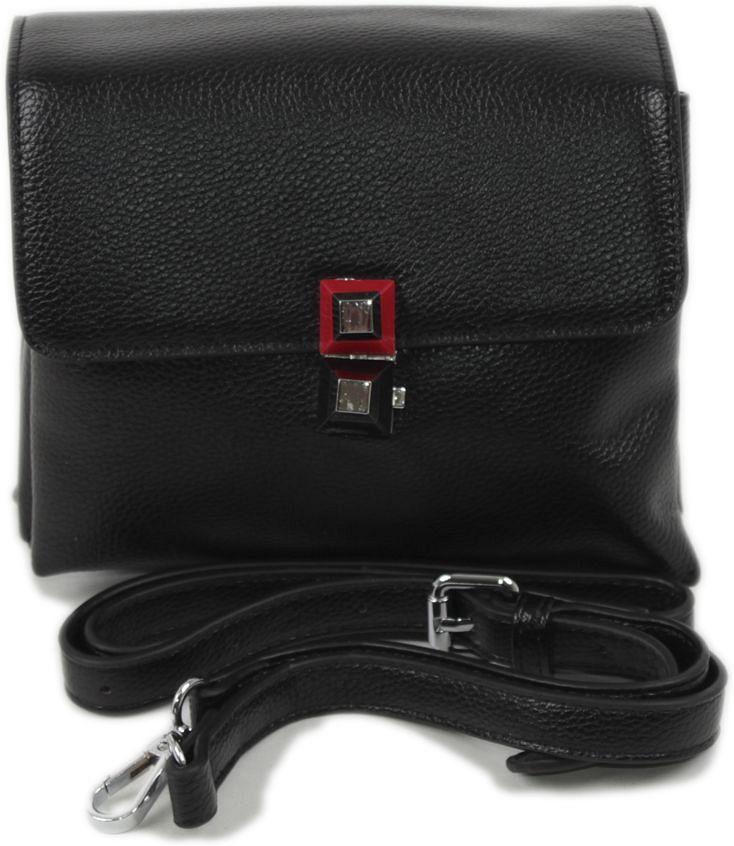Клатч женский Flioraj, цвет: черный. 92073-92038S76245Закрывается на декоративный замок. Внутри четыре отделения. В комплекте наплечный ремень.