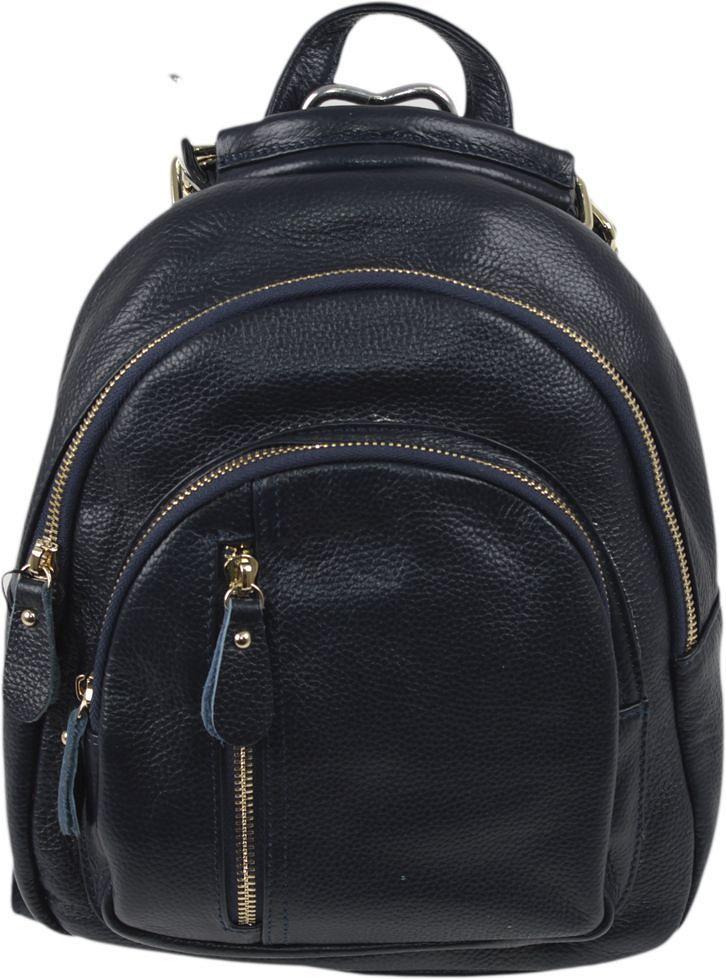 Рюкзак женский Flioraj, цвет: синий. 796967-637T-17s-01-42Закрывается на молнию. Внутри два отделения, один открытый карман, два на молнии, снаружи три кармана на молнии. Высота ручки 7 см.