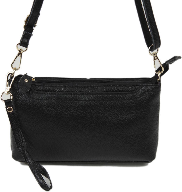 Сумка женская Flioraj, цвет: черный. 8808S76245Закрывается на молнию. Внутри два отделения, один открытый карман, два на молнии. снаружи карман на молнии, карман на магнитной кнопке. В комплекте наплечный ремень.