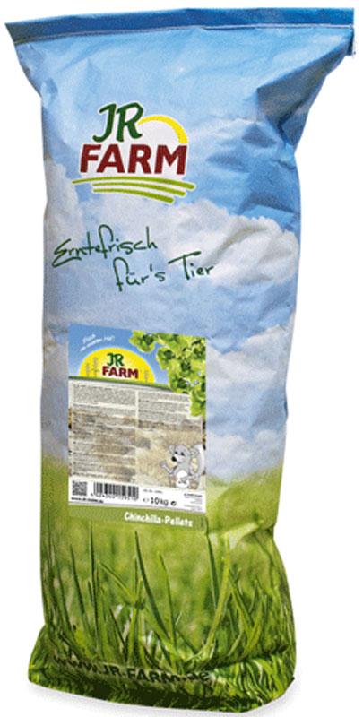 Корм для шиншилл JR Farm, 10 кг0120710Пеллеты (гранулы) для шиншилл - это сбалансированный полнорационный корм, содержащий все необходимые питательные вещества, а так же высокий процент клетчатки для здорового пищеварения.