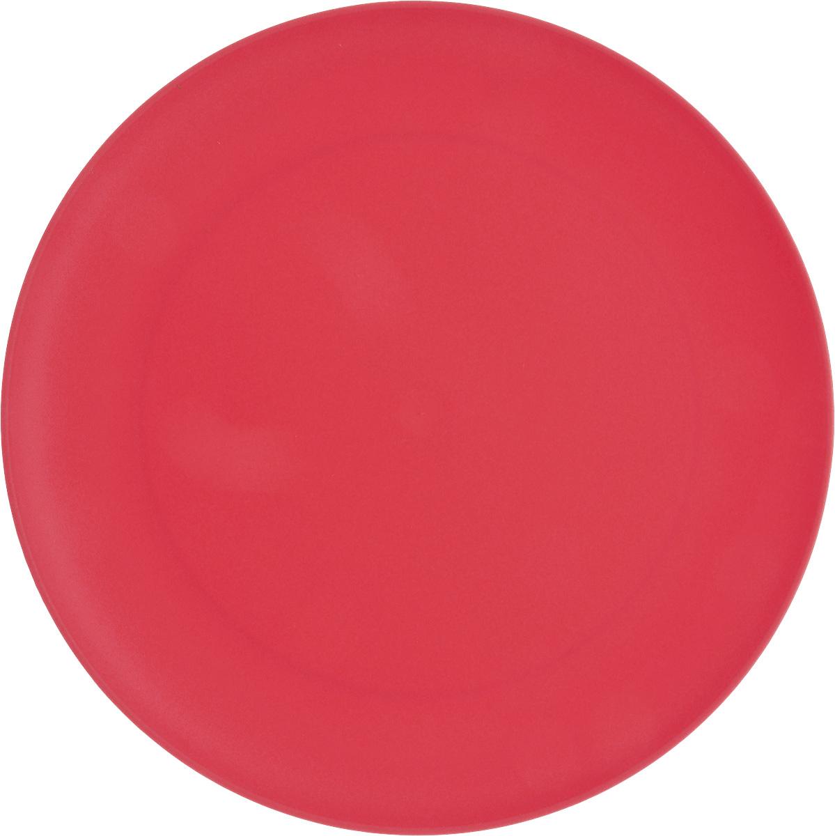 Тарелка Gotoff, цвет: красный, диаметр 23,5 см230655Круглая тарелка Gotoff выполнена из прочного пищевого полипропилена. Изделие отлично подойдет как для холодных, так и для горячих блюд. Его удобно использовать дома или на даче, брать с собой на пикники и в поездки. Отличный вариант для детских праздников. Такая тарелка не разобьется и будет служить вам долгое время.