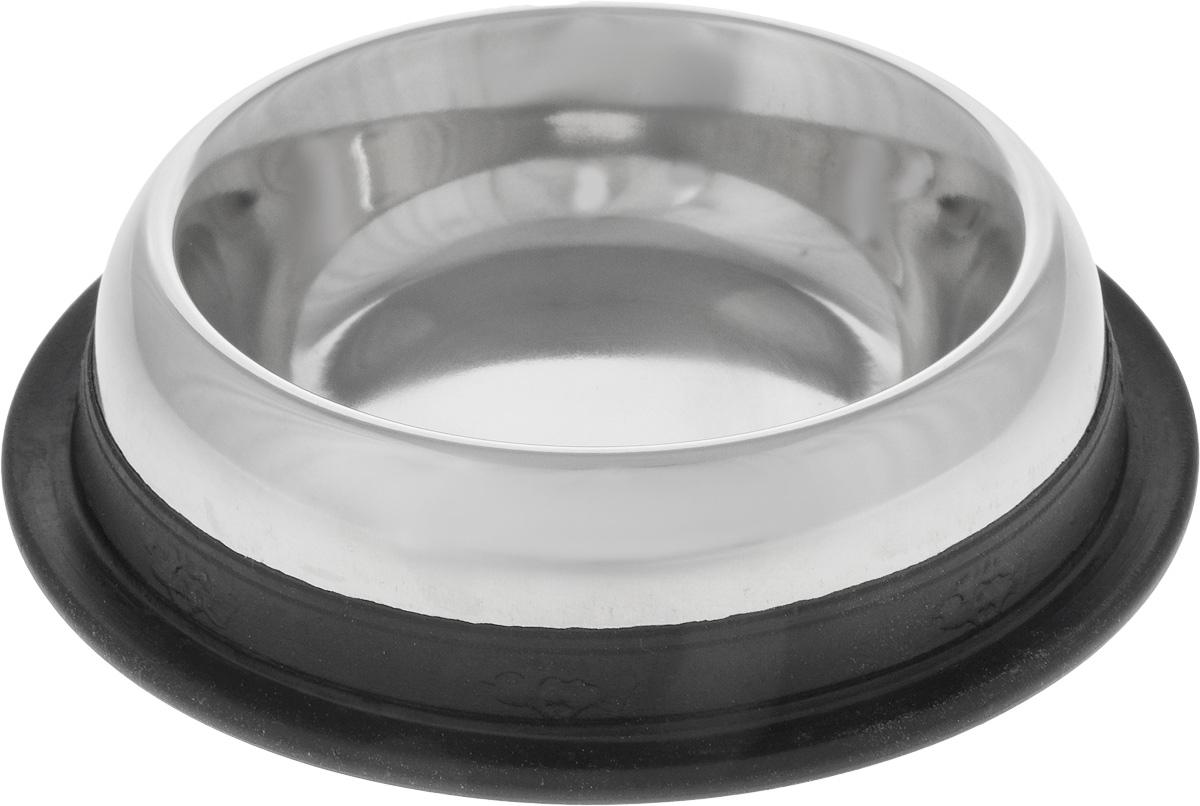 Миска для животных Nobby, 250 мл0120710Миска для животных Nobby - это функциональный аксессуар для вашего питомца. Изделие выполнено из металла. Дно миски оснащено резиновой вставкой, которая предотвратит скольжение миски по полу. Такая миска порадует удобством использования как самих животных, так и их хозяев.Высота миски: 3,5 см.Диаметр миски: 11,5 см. Диаметр дна: 15,5 см.