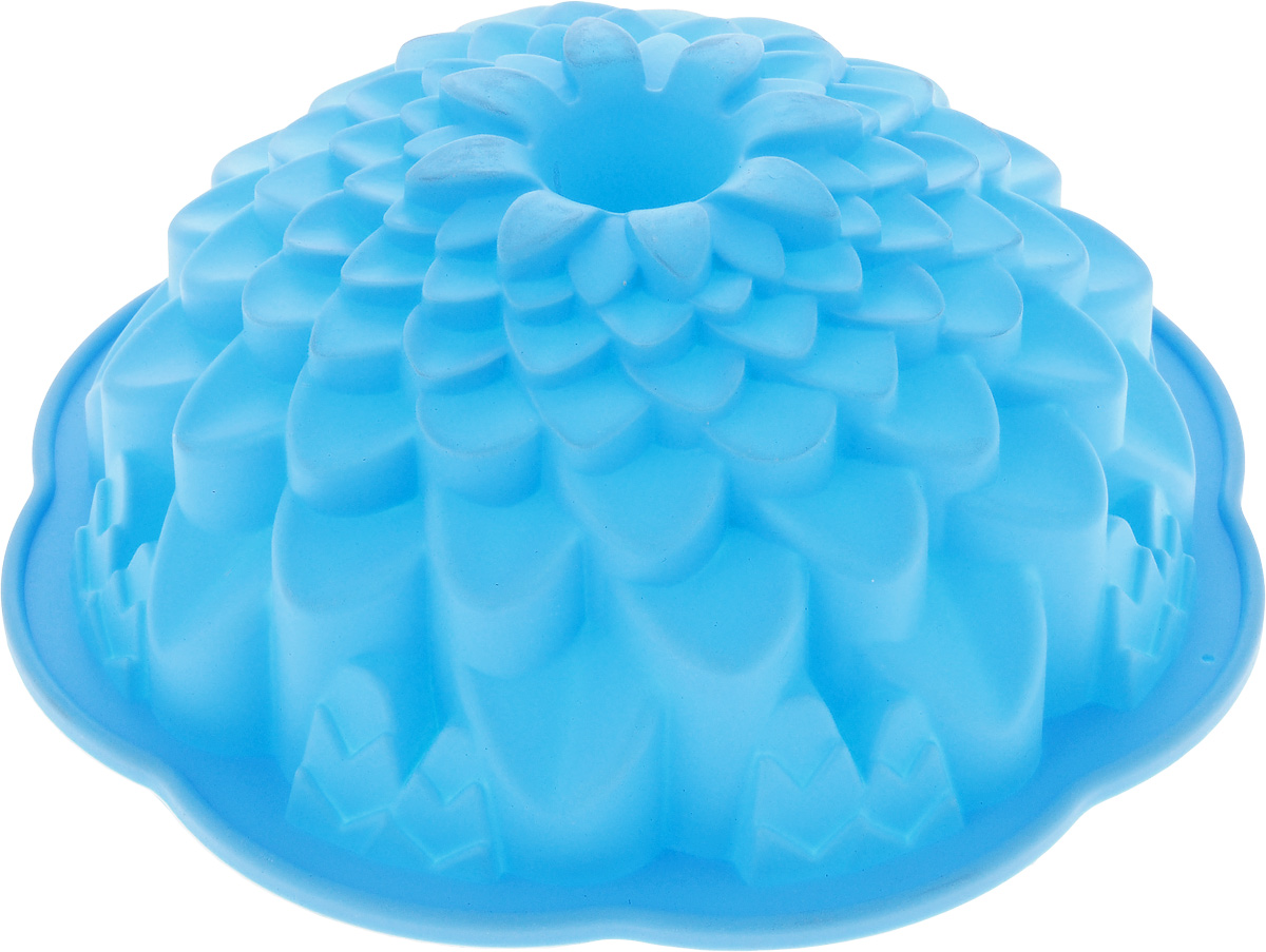 Форма для выпечки кекса Mayer & Boch Хризантема, круглая, цвет: голубой, диаметр 22 см54 009312Форма для выпечки кекса Mayer & Boch Хризантема, круглая, цвет: голубой, диаметр 22 см
