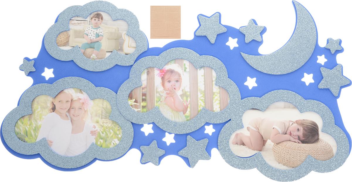 Room Decor Наклейка-фоторамка интерьерная Домашний уют цвет голубой