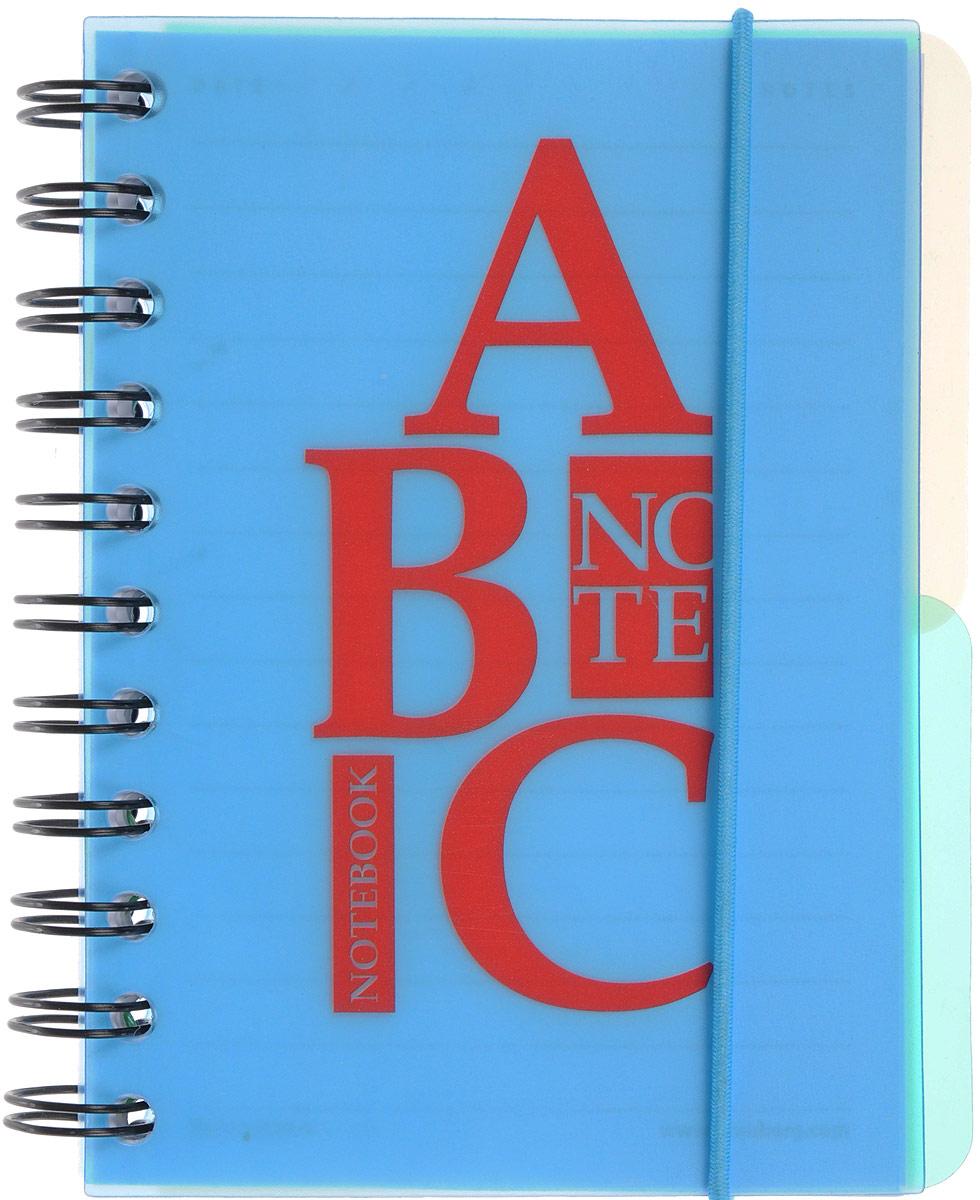 Brauberg Блокнот Буквы 120 листов в линейку цвет голубой125385_голубойПрактичный блокнот Brauberg Буквы с пластиковой обложкой, защищающей внутренний блок от износа и деформации.Удобные съемные разделители помогают лучше ориентироваться в записях, а резинка-фиксатор не позволит блокноту раскрыться в сумке.