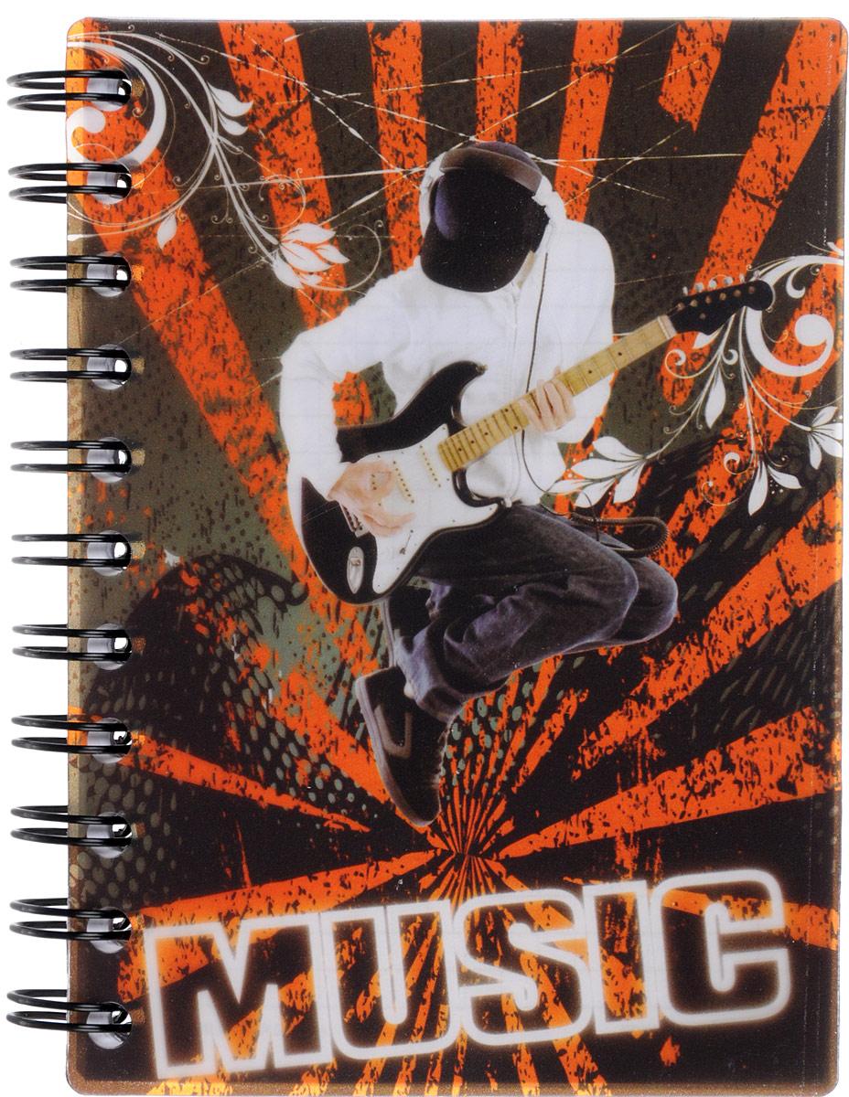 Brauberg Блокнот Music 120 листов в клетку цвет черный оранжевый72523WDМолодежный блокнот Brauberg Music для записей и заметок с динамичным дизайном. Пластиковая обложка долго сохраняет привлекательный внешний вид и защищает бумагу от повреждений.