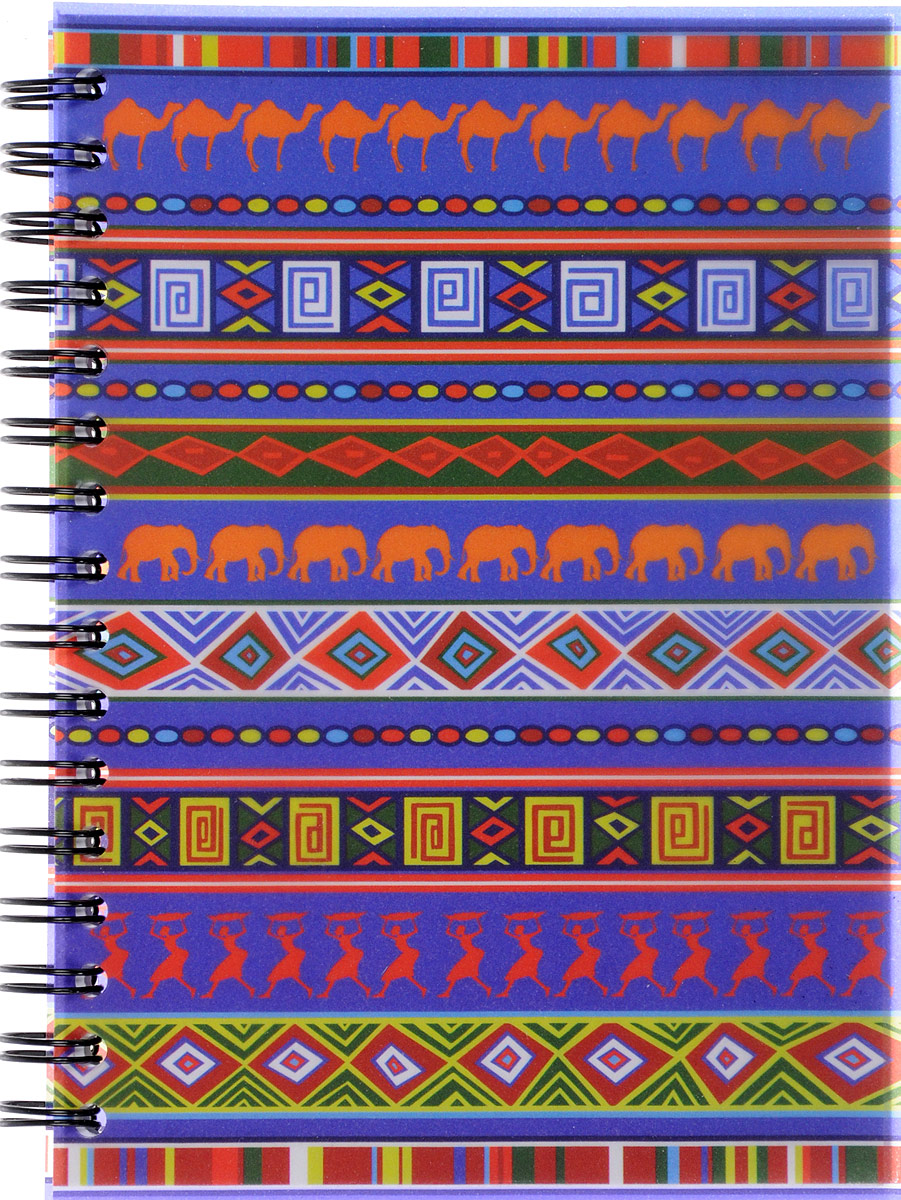Brauberg Блокнот Африка вид 2 60 листов в линейку125377_вид 2Блокнот Brauberg Африка - яркий и стильный атрибут для записей с этническим рисунком. Пластиковая обложка долго сохраняет привлекательный внешний вид.Внутренний блок состоит из 60 листов высококачественного офсета в линейку. Листы блокнота соединены металлическим гребнем.