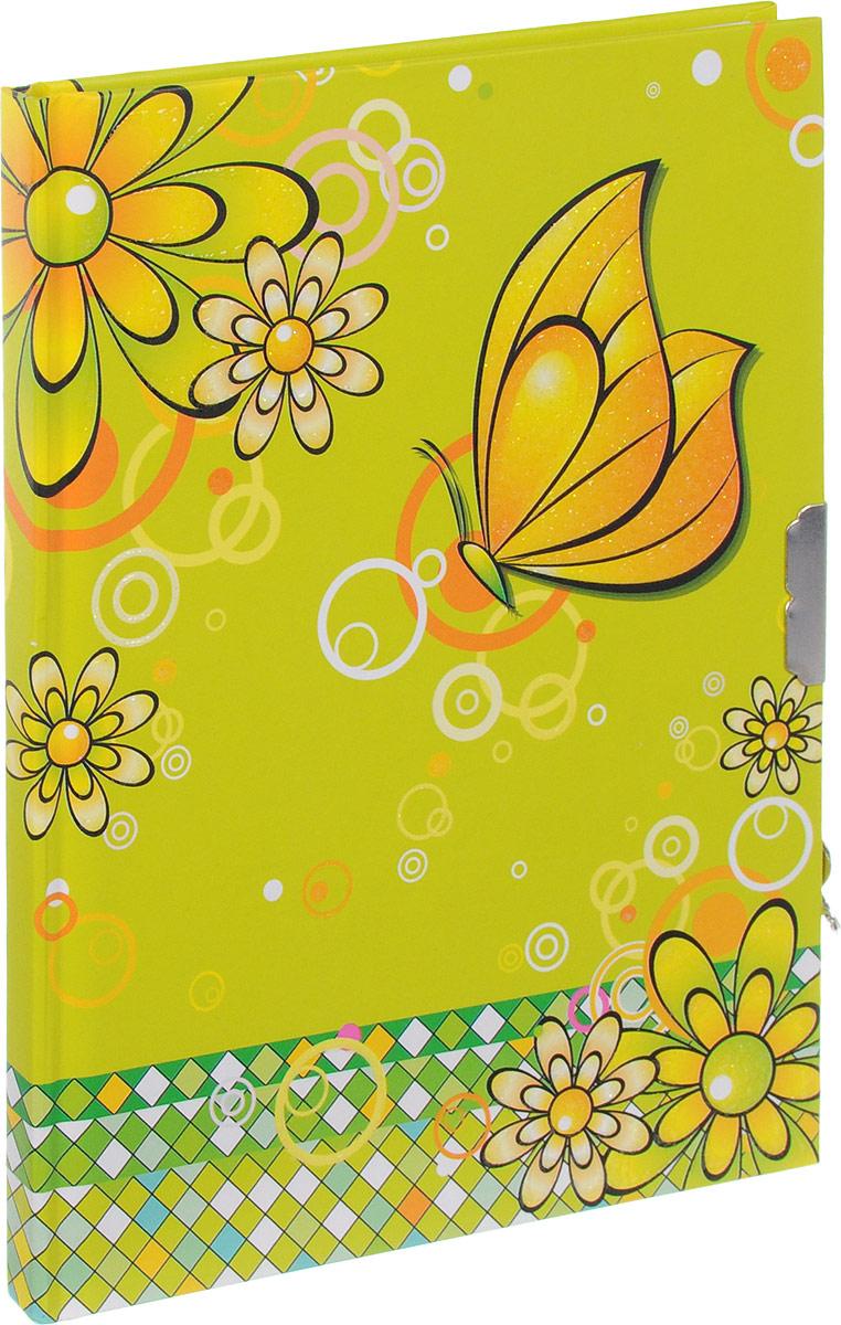 Brauberg Блокнот Бабочки 56 листов в линейку цвет салатовый43173Яркий блокнот Brauberg Бабочки с ароматизированными листами отлично сохранит все секреты своего юного владельца благодаря очаровательному замочку.Внутренний блок состоит из цветной офсетной бумаги.