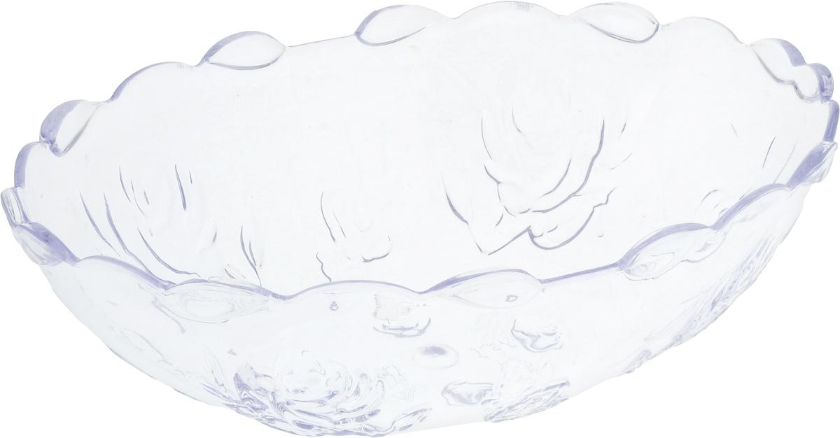 Салатник Альтернатива Изобилие, цвет: прозрачный, 1,3 л115510Салатник Альтернатива Изобилие выполнен из прозрачного пластика и декорирован рельефным цветочным узором. Изделие прекрасно подойдет для подачи различных блюд, закусок, салатов и фруктов. Такой салатник украсит ваш праздничный или обеденный стол, а оригинальное исполнение понравится любой хозяйке. Размер салатника (по верхнему краю): 23 х 16 см. Высота стенки: 8 см. Объём салатника: 1,3 л.