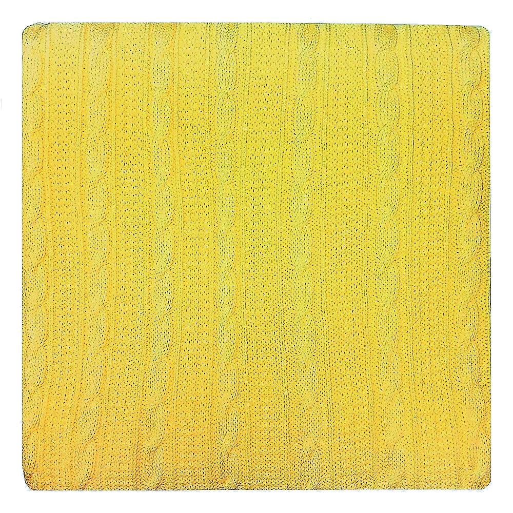 Плед Apolena, цвет: желтый, 130 х 180 см87-V036/1Плед Apolena выполнен из мягкой объемной пряжи, обеспечивающей хорошую теплозащиту и комфорт. Высокое качество материала гарантирует отсутствие пиллинга при правильном уходе. Вязаный плед используется в качестве шали или накидки на односпальную кровать, диван или кресло. В плед можно укутаться, а также использовать в качестве декоративного элемента оформления интерьера. Вязаный плед пригодится в любое время года.Изделие дополнено модным рисунком косичка. Удобство, комфорт, стиль и экологичность в одном предмете.Данный оттенок хорошо сочетается с коллекциями в стиле Эко-тренд, такими как Сахара, Лучистые ромашки, а также с геометрическими коллекциями Солнечная долина, Дыхание Востока.