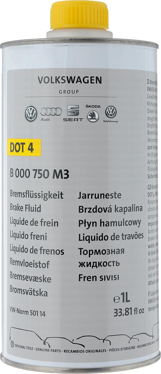 Жидкость тормозная VAG DOT-4, 1 лB000750M3Тормозная жидкость разработана в соответствии с требованиям современных высокотехнологичных тормозных систем автомобилей марок VolksWagen, Seat, Skoda, Audi.Жидкость тормозная VAG DOT-4 является синтетической тормозной жидкостью, предназначенной не только для легковых автомобилей, но и для грузовых, а также автобусов.Товар сертифицирован.