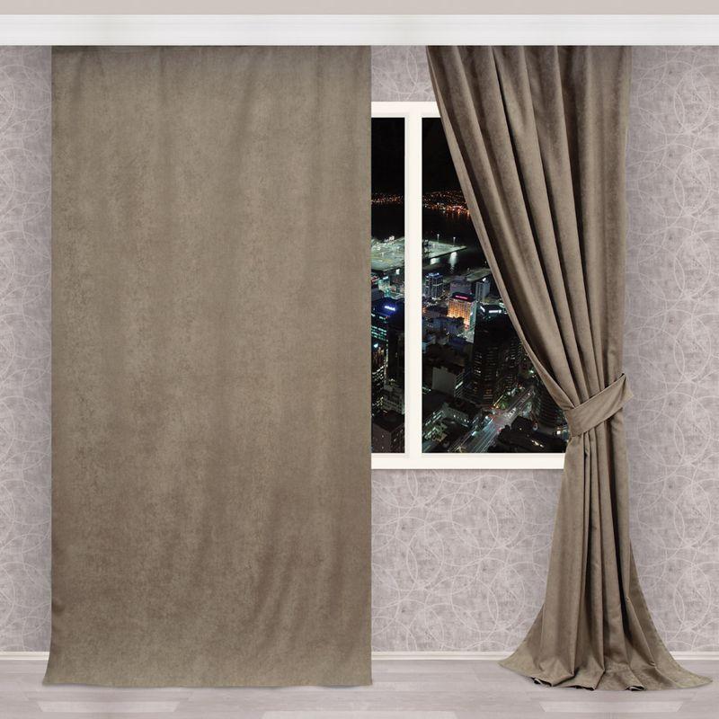 Штора Apolena Капучино, на ленте, высота 270 см1004900000360Однотонная штора, выполненная из инновационной ткани- микроволокно, имеет плюшевую бархатистую поверхность. За счет небольшого ворса (так называемый эффект персика), ткань выглядит объемной и очень мягкой. Уникальным свойством ткани является поглощение пыли, которая не оседает на поверхности, а проникает внутрь капиллярной структуры полотна. При задергивании штор, пыль не летит во все стороны и впоследствии легко удаляется при стирке. Стойкий насыщенный цвет шторы прекрасно сочетается с другими коллекциями, как в качестве компаньона, так и как самостоятельный акцентный элемент коллекции. Штора крепится к карнизу при помощи шторной ленты. Вы можете самостоятельно подобрать наиболее предпочтительный вид крючков - для потолочного или стенового карниза. При желании вы можете присборить штору с помощью лески, предварительно закрепив ее концы с обеих сторон.