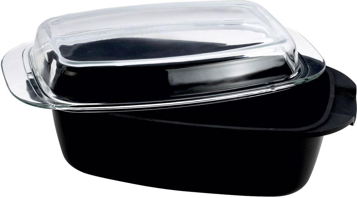 Ростер Vitesse Audrey, овальный, 5,4 л68/5/3Овальный ростер Audrey изготовлен из алюминия с трехслойной системой антипригарного покрытия Xylan Quan Tanium. Алюминиевое дно равномерно распределяет тепло по поверхности посуды и доводит блюдо до полной готовности. Литые ручки обеспечивают удобство при эксплуатации. Форма кромки ростера предотвращает разливание жидкости, а благодаря правильности линий кромки в комбинации с крышкой обеспечивается максимальная герметизация между ними. Прозрачная крышка, выполненная из термостойкого стекла, позволяет следить за процессом приготовления пищи. Ростер подходит для газовых, электрических и стеклокерамических плит и пригоден для мытья в посудомоечной машине. Характеристики: Материал:алюминий, стекло, сталь. Размер ростера (без учета ручек и крышки):34 см x 22 см x 10 см. Толщина стенок:2,5 мм. Объем:5,4 л.Изготовитель:Китай. Артикул:VS-1160.
