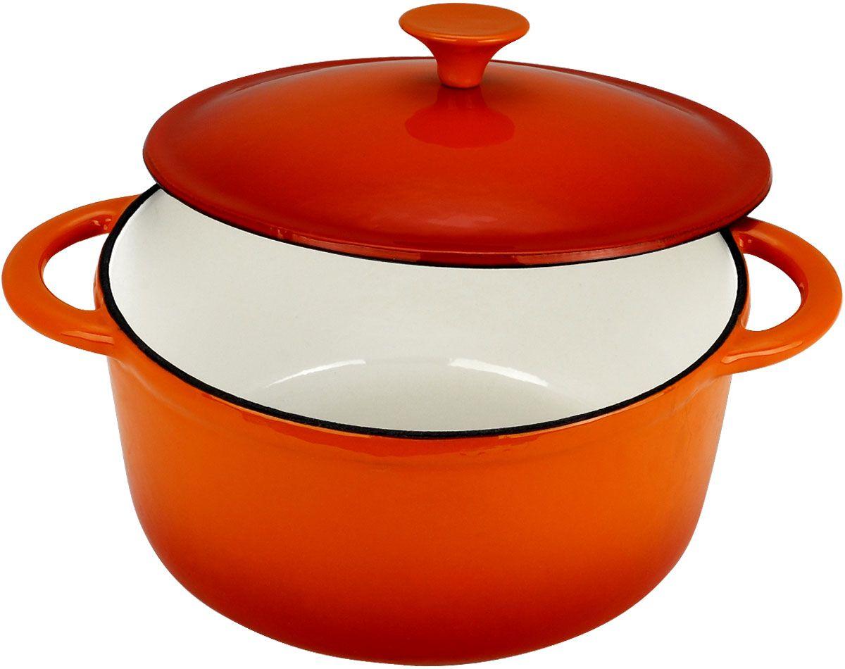 Кастрюля Vitesse Аngie, цвет: оранжевый, 2,8 л. VS-158194672Кастрюля Vitesse Angie идеально подходит для приготовления вкусных тушеных блюд. Кастрюляизготовлена из высококачественного чугуна. Толстое дно хорошо проводит тепло, а чугунная крышка с цветным эмалевым покрытием сохраняет ароматы. Эмалированная внешняя поверхность оранжевого цвета и внутренняя светло-бежевого цвета, придают кастрюле нотки благородности и изысканности. Ручки кастрюли - цельнолитые, что обеспечивает наибольшую надежность и долговечность.Известно, что пища, приготовленная в чугунной посуде, сохраняет свои вкусовые качества, и благодаря экологической чистоте материала, не может нанести вред здоровью человека. Долговечность - еще одно преимущество чугунной посуды. Приобретая чугунную кастрюлю Angie, вы можете быть уверены, что она прослужит вашей семье достаточно долгий срок. Кастрюля подходит для всех типов плит. В комплекте к кастрюле дополнительно прилагаются две прихватки-варежки! Характеристики:Материал: чугун, эмаль, текстиль. Объем:2,8 л. Диаметр кастрюли:21 см. Высота стенки кастрюли: 10 см. Толщина стенок: 4 мм. Размер прихватки-варежки:23 см х 14 см. Размер упаковки:24,5 см х 22,5 см х 12 см. Вес:3,5 кг.Изготовитель:Китай. Артикул:VS-1581.Кухонная посуда марки Vitesse предоставит Вам все необходимое для получения удовольствия от приготовления пищи и принесет радость от его результатов. Посуда Vitesse обладает выдающимися функциональными свойствами. Легкие в уходе кастрюли и сковородки имеют плотно закрывающиеся крышки, которые дают возможность готовить с малым количеством воды и экономией энергии, и идеально подходят для всех видов плит: газовых, электрических, стеклокерамических и индукционных. Конструкция дна посуды гарантирует быстрое поглощение тепла, его равномерное распределение и сохранение. Великолепно отполированная поверхность, а также многочисленные конструктивные новшества, заложенные во все изделия Vitesse, позволит Вам открыть новые горизонты приготовления уже знакомых 
