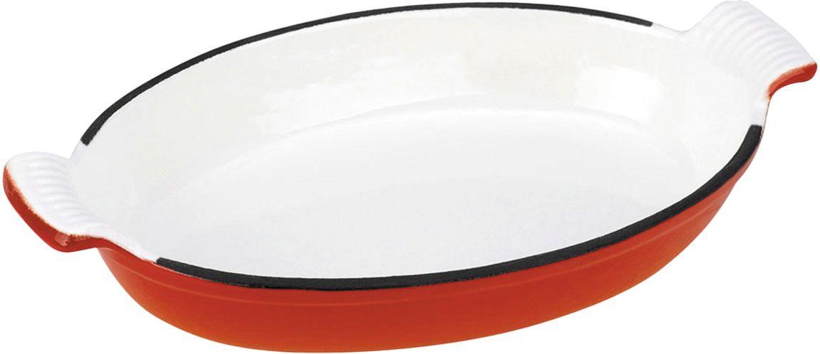Ростер Vitesse, цвет: оранжевый, белый, 21 х 14,5 см + варежка и прихватка54 009312Овальный ростер Vitesse выполнен из чугуна, покрытого антикоррозийным составом, который безвреден для человека. Внутри и снаружи ростер обработан высококачественной эмалью, которая устойчива к температуре и повреждениям. Эмалированный чугун - это железо, на которое наложено прочное эмалевое покрытие. Такая посуда отлично подходит для приготовления традиционной здоровой пищи. Кроме того, чугун является наилучшим материалом, который долго удерживает и равномерно распределяет тепло. Благодаря особенным качествам эмали, чем дольше вы используете посуду, тем лучше становятся ее эксплуатационные характеристики. В комплект к ростеру прилагается варежка и прихватка красного цвета. Ростер подходит для использования на всех типах плит, включая индукционные. Можно мыть в посудомоечной машине. Характеристики:Материал: чугун, эмаль, текстиль. Цвет: оранжевый. Размер ростера (с учетом ручек): 26 см х 15,5 см х 5,5 см. Внутренний размер ростера (Д х Ш х В): 21 см х 14 см х 4 см. Толщина стенок ростера: 0,4 см. Размер варежки: 17 см х 24 см. Размер прихватки: 15,5 см х 17 см.Изготовитель: Китай. Размер упаковки: 27 см х 16,5 см х 6 см. Артикул: VS-2319.
