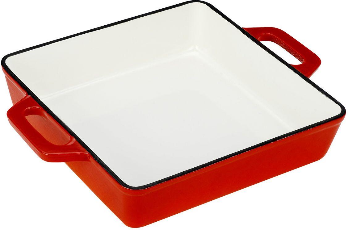 Жаровня Vitesse Ferro, цвет: оранжевый, 25 х 25 см + ПОДАРОК: Кухонные рукавицы, 2 шт391602Жаровня Vitesse Ferro изготовлена из чугуна с эмалированной внутренней и внешней поверхностью. Такая посуда отлично подходит для приготовления традиционной здоровой пищи. Чугун является наилучшим материалом, который долго удерживает и равномерно распределяет тепло. Благодаря особым качествам эмали, чем дольше вы используете посуду, тем лучше становятся ее эксплуатационные характеристики. Чугун обладает высокой прочностью, износоустойчивостью и антикоррозийными свойствами. Жаровня оснащена цельнолитыми чугунными ручками.В подарок: - кухонные рукавицы.Можно готовить на газовых, электрических, стеклокерамических, галогенных, индукционных плитах. Подходит для мытья в посудомоечной машине и использования в духовом шкафу. Характеристики: Материал: чугун. Цвет: оранжевый, бежевый. Внутренний размер жаровни: 25 см х 25 см. Размер жаровни (с учетом ручек): 33 см х 25 см. Высота стенки: 6 см. Толщина стенки: 4 мм.