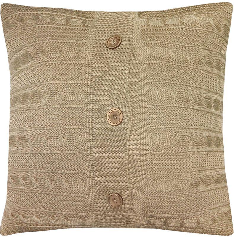 Наволочка декоративная Altali Beige, 43 х 43 смES-412Вязаная подушка в доме - признак уюта и стиля. В отличие от тканевой подушки вязаные изделия более эластичные и структурные. Рисунок вязки гармонично впишется в любой интерьер. Чехол съемный, на пуговицах. Его можно стирать в деликатном режиме, сушить на горизонтальной поверхности.