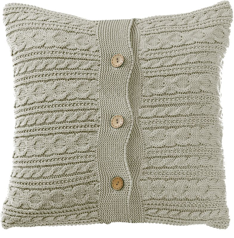 Наволочка декоративная Altali Серебро, 43 х 43 см531-105Вязаная подушка в доме - признак уюта и стиля. В отличие от тканевой подушки вязаные изделия более эластичные и структурные. Рисунок вязки гармонично впишется в любой интерьер. Чехол съемный, на пуговицах. Его можно стирать в деликатном режиме, сушить на горизонтальной поверхности.