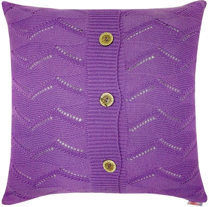 Наволочка декоративная Altali Лаванда, 45 х 45 см531-105Вязаная подушка в доме - признак уюта и стиля. В отличие от тканевой подушки вязаные изделия более эластичные и структурные. Рисунок вязки гармонично впишется в любой интерьер. Чехол съемный, на пуговицах. Его можно стирать в деликатном режиме, сушить на горизонтальной поверхности.