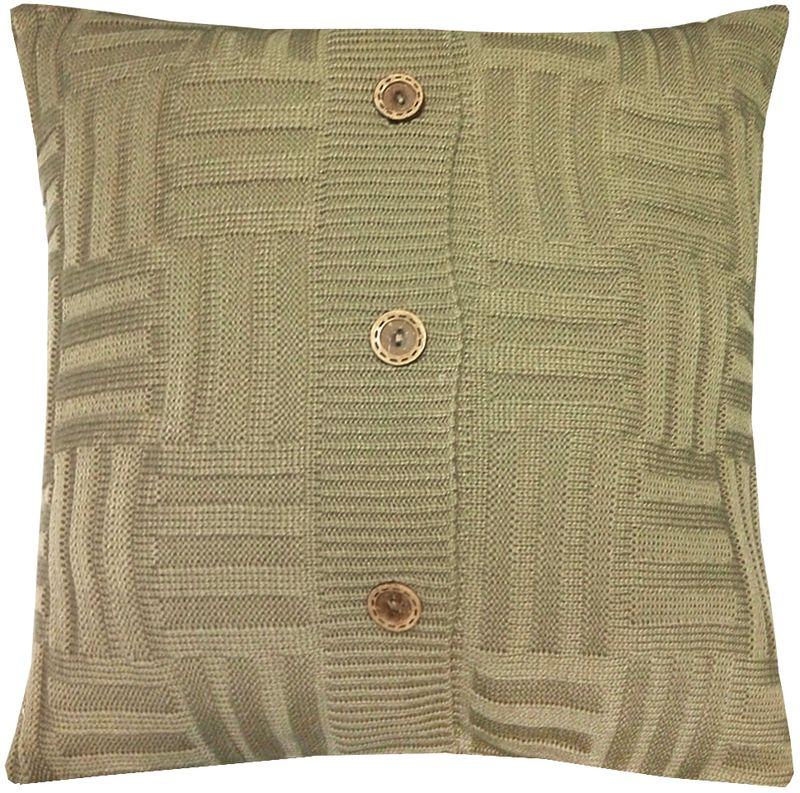 Наволочка декоративная Altali Beige quadro, 43 х 43 см531-105Вязаная подушка в доме - признак уюта и стиля. В отличие от тканевой подушки вязаные изделия более эластичные и структурные. Рисунок вязки гармонично впишется в любой интерьер. Чехол съемный, на пуговицах. Его можно стирать в деликатном режиме, сушить на горизонтальной поверхности.