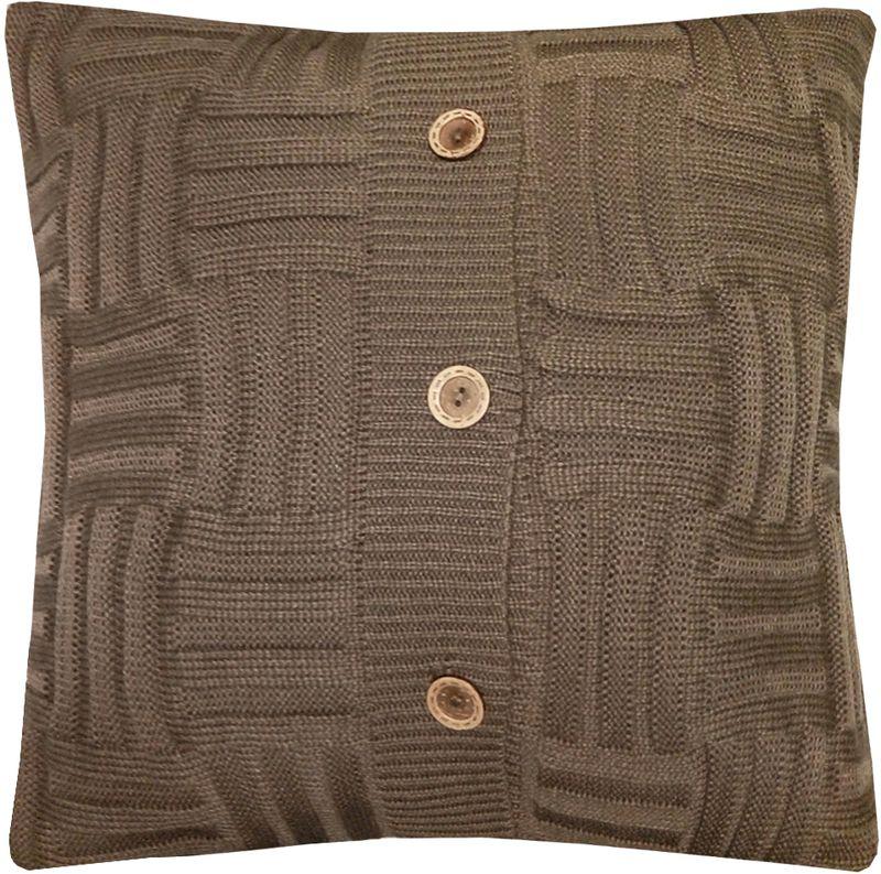 Наволочка декоративная Altali Mokko Quadro, 43 х 43 см531-105Вязаная подушка в доме - признак уюта и стиля. В отличие от тканевой подушки вязаные изделия более эластичные и структурные. Рисунок вязки гармонично впишется в любой интерьер. Чехол съемный, на пуговицах. Его можно стирать в деликатном режиме, сушить на горизонтальной поверхности.