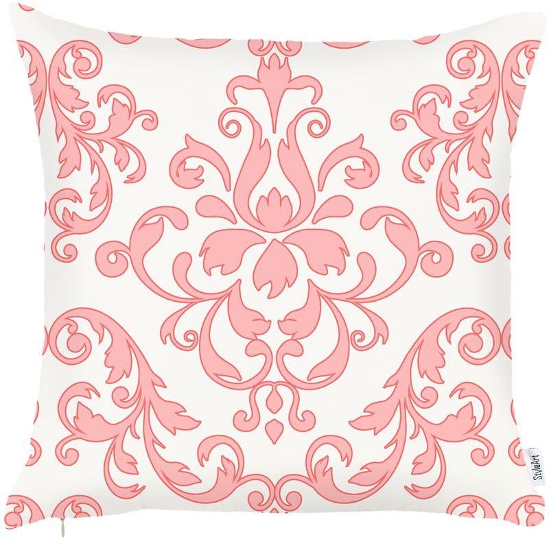 Наволочка декоративная Apolena Fresh Rose, 43 х 43 см. P302-8818/4ES-414Стильный декоративный чехол с рисунком, выполнен из современной гладкой микрофибры. Придаст индивидуальность вашему интерьеру за счет оригинального дизайна. Чехол имеет потайную молнию для для внутренней подушки из экофайбера. Рекомендуется деликатная стирка и глажение с изнаночной стороны на среднем режиме.