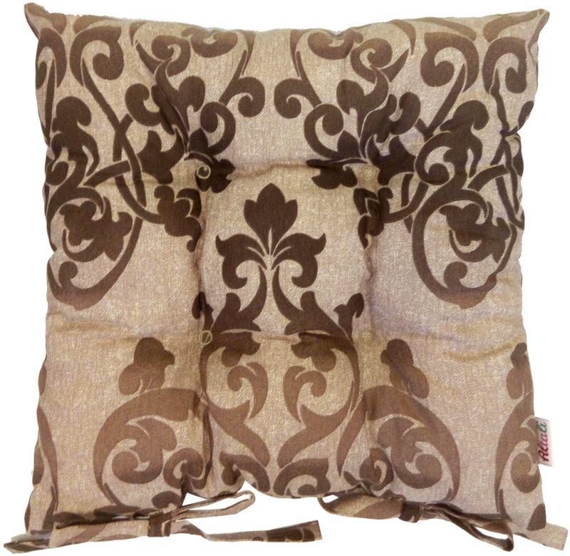 Подушка на стул Altali Chocolate, 41 х 41 см1004900000360Подушка на стул является универсальным предметом домашнего интерьера. Используйте ее для удобства и гармоничного оформления кухонной зоны- на обеденных или барных стульях. Для концептуального декора столовой группы постелите скатерть, салфетки и дорожки на стол из одноименной коллекции. Эффектно будет смотреться парное сочетание подушек с принтом и однотонных компаньонов. В других помещениях подушки можно разместить на широком подоконнике, на полу, в игровой зоне или использовать для комфортного отдыха небольших домашних животных. Чехол подушки выполнен из натуральной хлопковой ткани, что обеспечивает высокую экологичность и износостойкость изделия. В качестве наполнителя применяется измельченный пружинистый пенополеуретан. Изначально, подушка выглядит достаточно высокой и пышной. В процессе эксплуатации наполнитель подлежит усадке при сохранении первоначального комфорта сидения за счет memory- эффекта материала. Рекомендуется деликатная стирка.