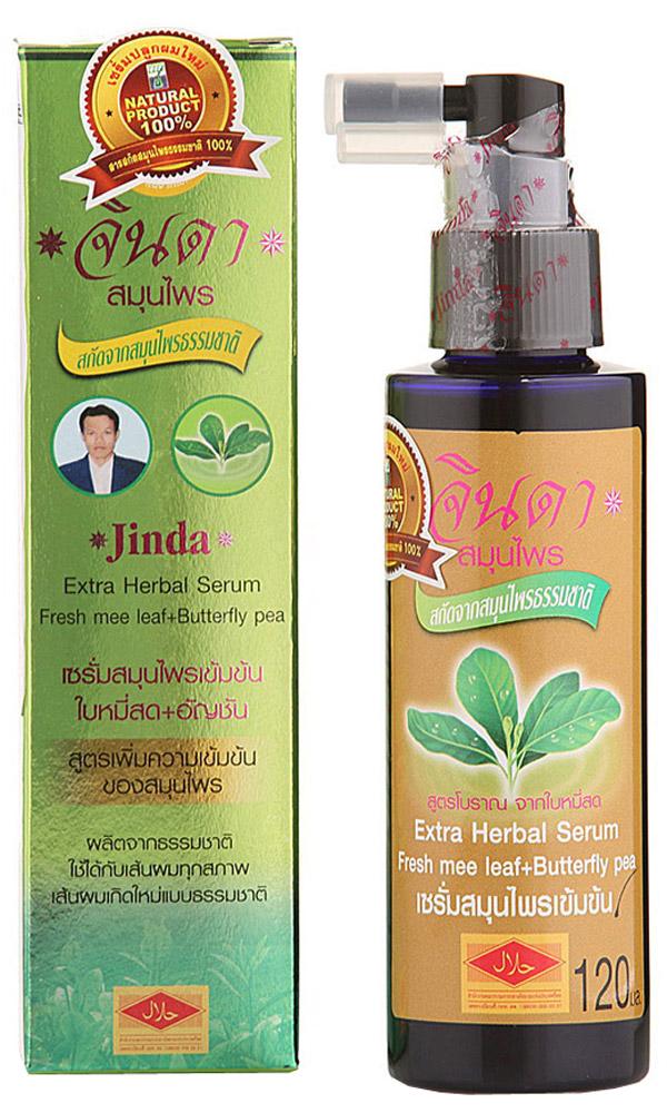 Jinda Extra Serum - Интенсивная сыворотка от выпадения волос Джинда, 120 мл0452Усиленная формула сыворотки Джинда Баймисот разработана для решения застарелых и хронических форм облысения, себореи, перхоти, слабых секущихся волос. Сыворотка обладает двойной концентрацией трав. 100% натуральные растительные ингредиенты, подходят для всех типов волос. Кроме этого сыворотка: • Стимулирует здоровый рост новых волос, придает корням силу для роста. • Предотвращает выпадение волос. • Питает луковицы волос, делает их сильными, крепкими и здоровыми. • Увеличивает тонких волос. • Делают волосы здоровыми, шелковистыми, придают волосам здоровый блеск. Волосы будут легче укладываться и держать форму прически. • Снижает жирность кожи головы. • Предотвращает зуд кожи головы. • Борется с перхотью. • Обладает нежным запахом жасмина.