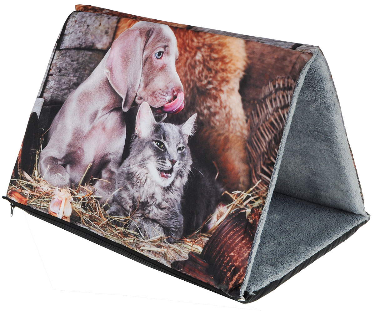 Шалаш-лежак для животных Грызлик Ам Кот и пес, 44 x 64 x 40 см шкаф для одежды 2 х дверный арт
