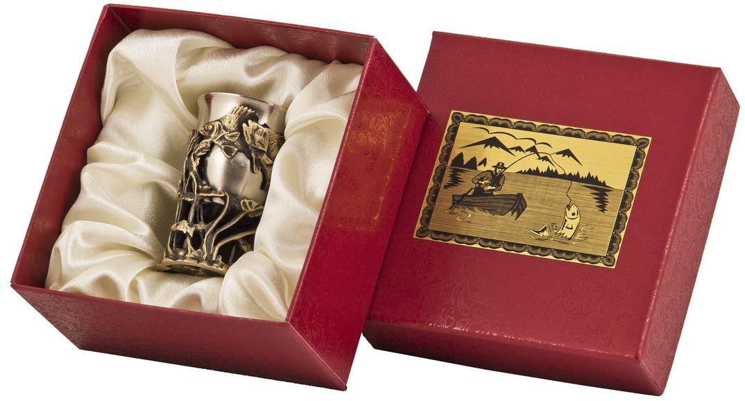 Стопка Арт-студия Классик Окунь. СР-01 ОкуньFA-5125 Whiteлатунь точное художественное литье, внутри- покрытие золотом 0,4591 г.