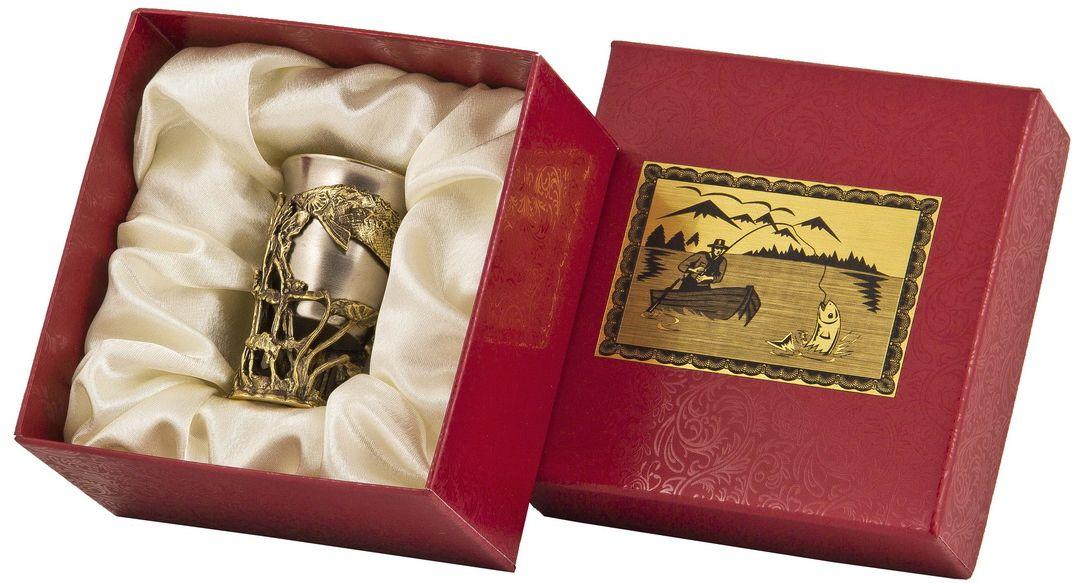 Стопка Арт-студия Классик Осетр. СР-01 ОсетрСП-01 Совалатунь точное художественное литье, внутри- покрытие золотом 0,4591 г.