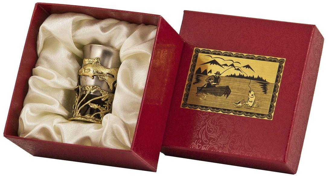 Стопка Арт-студия Классик Плотва. СР-01 ПлотваVT-1520(SR)латунь точное художественное литье, внутри- покрытие золотом 0,4591 г.