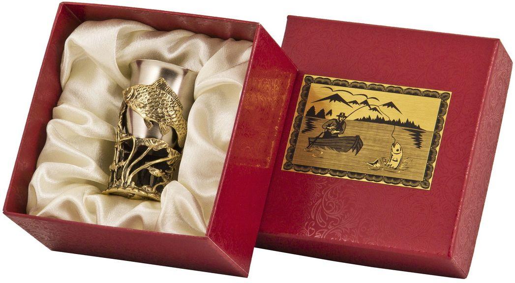 Стопка Арт-студия Классик Сазан. СР-01 СазанVT-1520(SR)латунь точное художественное литье, внутри- покрытие золотом 0,4591 г.