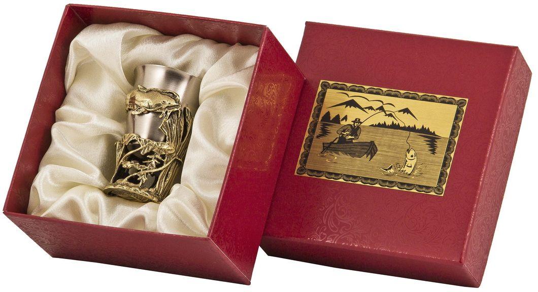 Стопка Арт-студия Классик Сом. СР-01 СомVT-1520(SR)латунь точное художественное литье, внутри- покрытие золотом 0,4591 г.