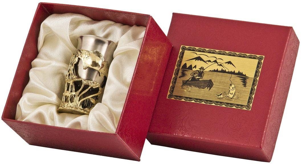 Стопка Арт-студия Классик Судак. СР-01 СудакСП-01 Медведьлатунь точное художественное литье, внутри- покрытие золотом 0,4591 г.